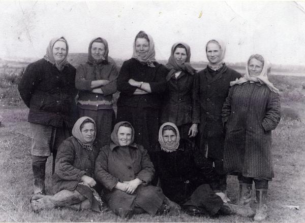 Труженицы сельского хозяйства д.Басово. Фото 1970-х гг.