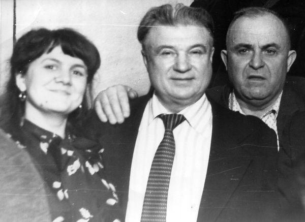 Родин Алексей Егорович (в центре), уроженец с.Ажово, профсоюзный и партийный деятель Железногорского района