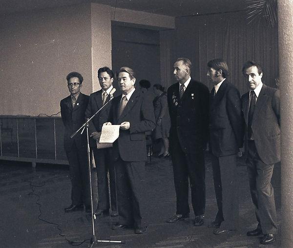 Церемония открытия музея Трудовой славы МГОКа. Фото 14 июля 1978 г.