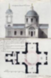 План Богословской церкви в слободе Михайловке (из фондов РГИА)