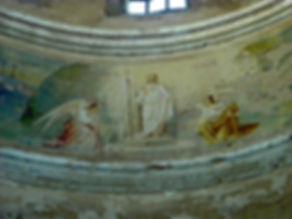 Фреска на своде купола Пятницкого храма.  Фото Илги Гондаревой 2009 г.