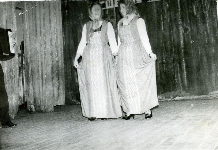 Участницы художественнной самодеятельности Остаповского клуба. Фото 1970-х гг.