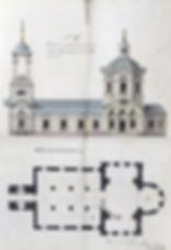 План Архангельской церкви в сл. Михайловке (из фондов РГИА)