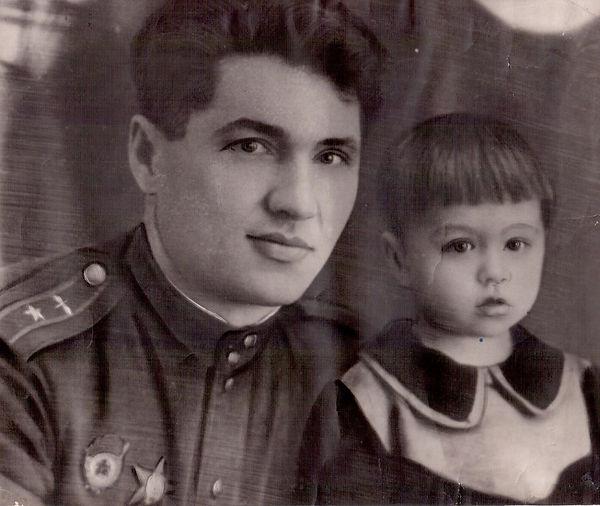 Тимощенков Афанасий Иванович, Герой Советского Союза, с дочерью Жанной