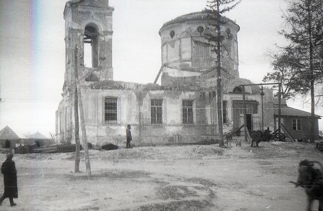Богословская церковь в сл. Михайловке. Фото 1950 г. ( Из архива Вронских )