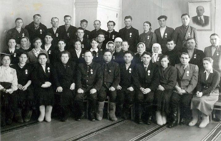 Передовики коноплеводы Михайловского района. Фото 1965 г.