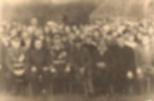 Генерал Кузнецов Владимир Степанович (сидит 3-й слева) с земляками в Андросово.Фото 1966 г.