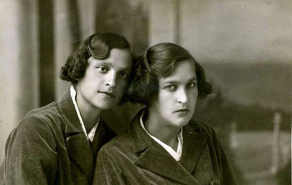 Дочери священника Казанского: Лидия (слева) и Вера. Фото 1930-х гг.