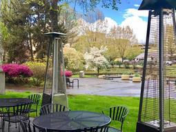 Outdoor Dining Patio in Spring