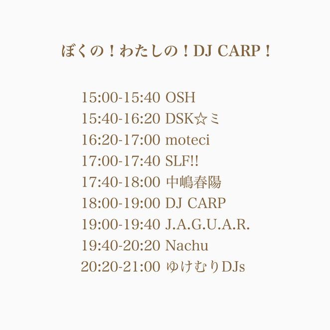 5/19 ぼくの!わたしの!DJ CARP!