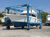 Boat in sling