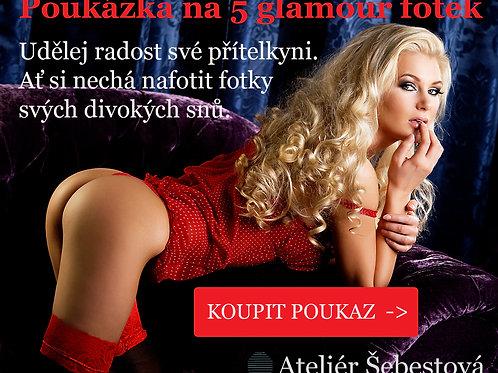Dárková poukázka na 5 glamour fotek