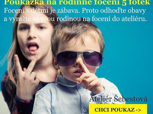 Dárková poukázka na 5 rodinných fotek