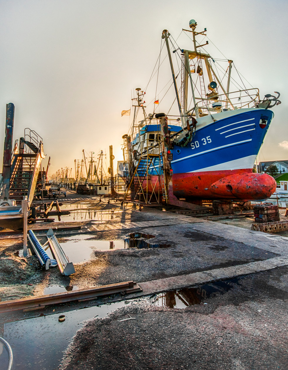 Fischkutter im Dock