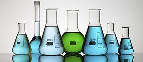 labo materiaal - scheikundige produkten chemische producten glaswerk - erlenmeyer - kolf - proefbuis