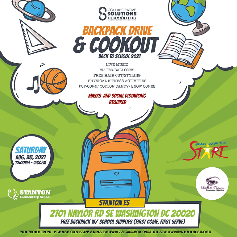 BackPack Drive & Cookout