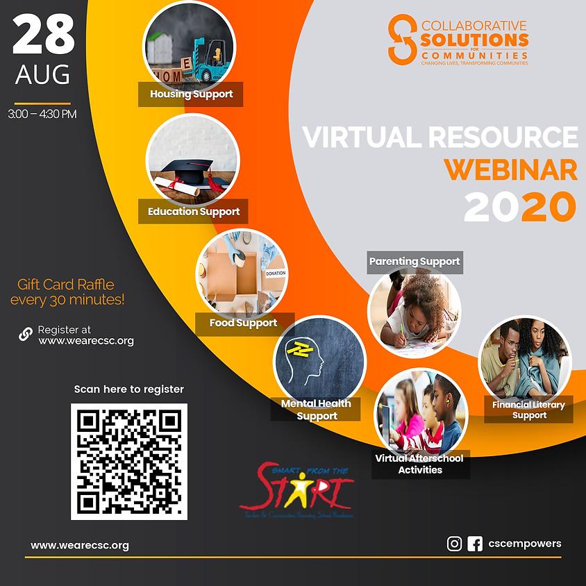 VIRTUAL RESOURCE WEBINAR 2020