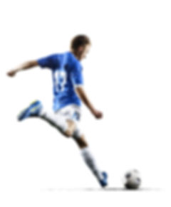 Professional football soccer player in a