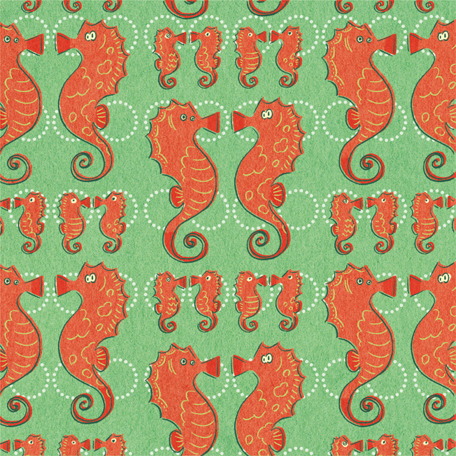 Patterndesign:seahorses2