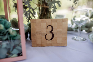 checkered table number