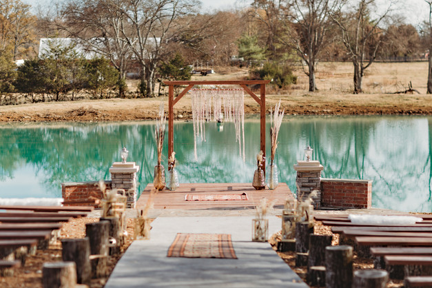 boho ceremony site