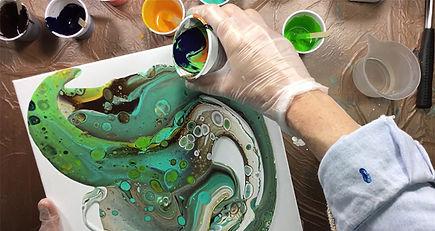 pouring medium verfen, pouring medium schilderen, pouring medium box