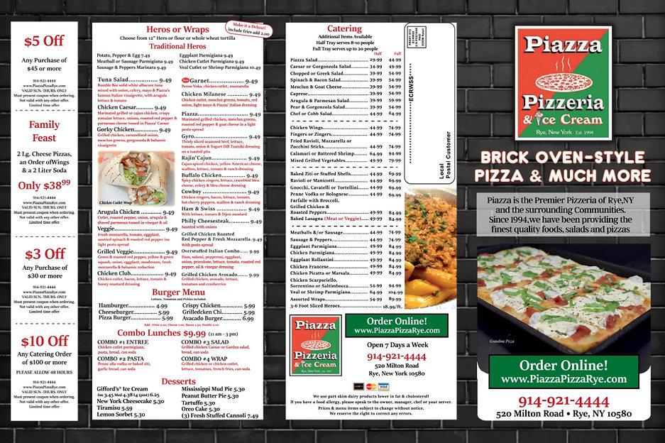 Piazza Pizza - 2021 Menu - Black Brick -