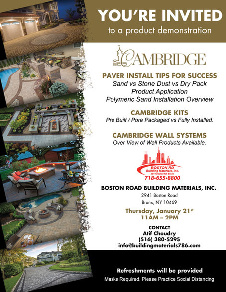 January 21th, 2021 - Cambridge Paver Install Tips for Success