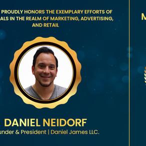 "Daniel Neidorf Honored With The ""Top 100 Marketing & Advertising Leaders"" Award At MARsum Las Vegas"