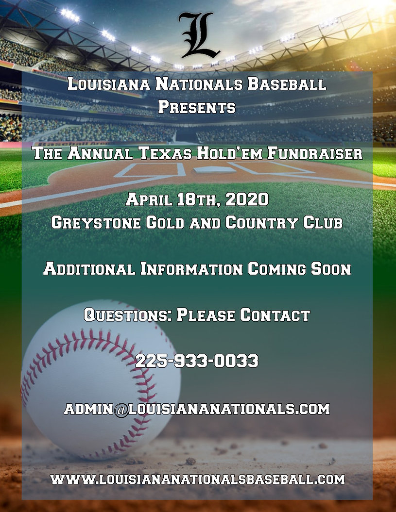 Louisiana Nationals - April 2020 Fundrai