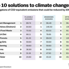 ICYMI: Top 10 Solutions to Climate Change