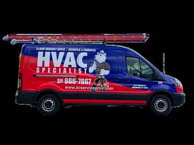 HVAC Specialist Van Transparent Backgrou