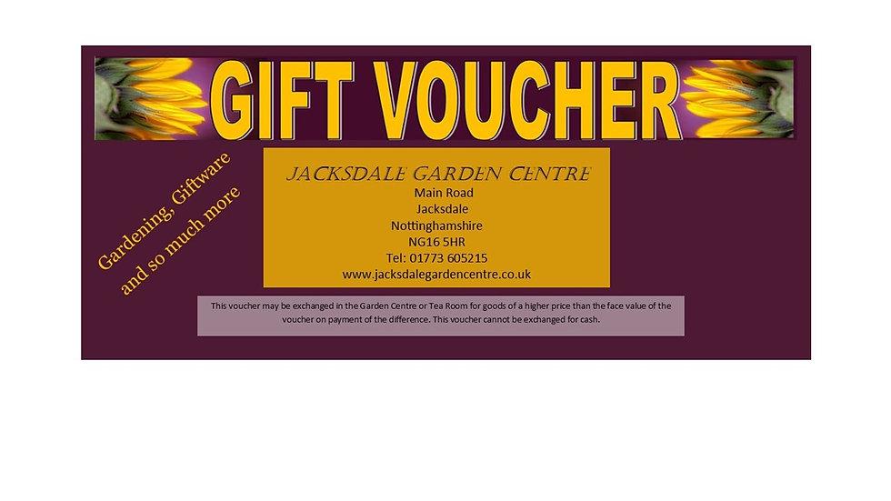 £5 Jacksdale Garden Centre Gift Voucher
