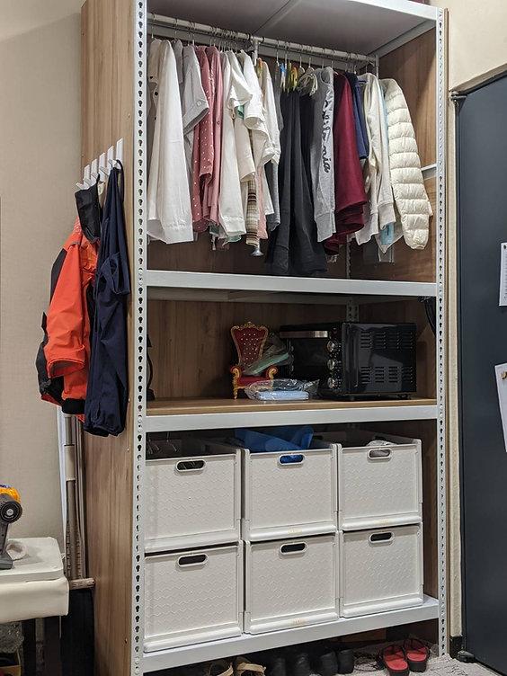 角鋼封板衣櫥,衣櫃,角鋼家具,開放式衣櫥,DIY衣櫃