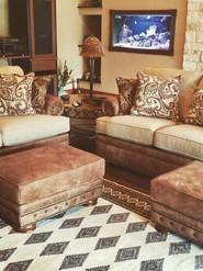 Mayo 7500 Leather-Fabric Sofa & Love, Le
