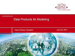 Data Products for Modeling