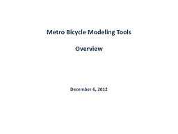 Metro Bicycle Modeling Tools