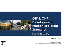 Oregon Transportation Plan Status Update and Reference Scenario Development