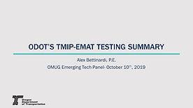 ODOT TMIP-EMAT Testing Summary