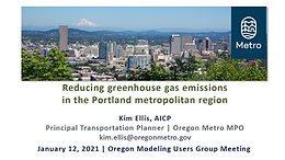 Reducing GHG in the Portland Metropolitan Region