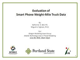 Smart Phone Truck Data