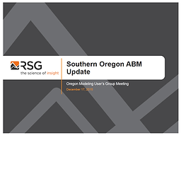 Southern Oregon ABM Update