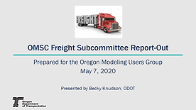 OMSC Freight Subcommittee Report-Out