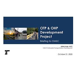 Oregon Transportation Plan and Oregon Highway Plan Development