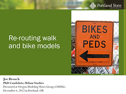 Re-routing Walk and Bike Models