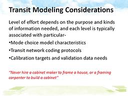 Metro Transit Modeling
