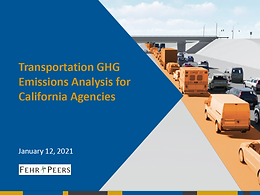 Transportation GHG Emissions Analysis for California Agencies