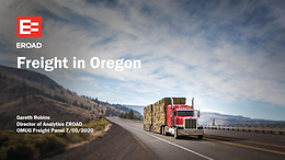 EROAD:  Freight in Oregon