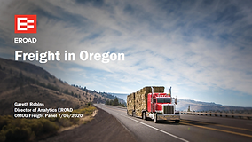 EROAD:  Freight in Oregon