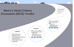 Metro Multi-Criteria Evaluation Tool